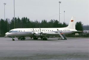 Aeroflot_Ilyushin_Il-18D_at_Arlanda,_1971