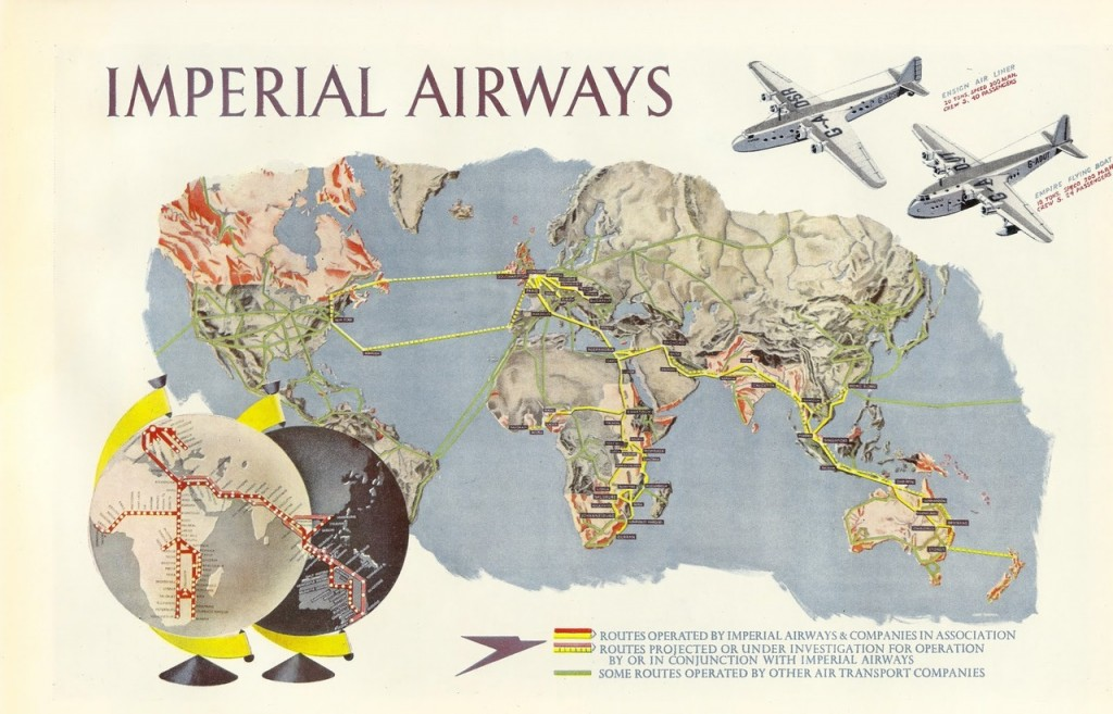 Pan Am Was The Chosen Instrument For The US And Imperial Airways - Us airways destinations map