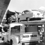 "Two ""Henry J's"" being loaded aboard a Pan American ""clipper"" airplane - 1951"