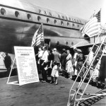 Arrival and display of Pan American's Clipper America - 1949