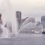 A Farewell Salute from the fire boats at Long Beach