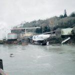 The Goose Preparing to Enter the Locks at Oregon City