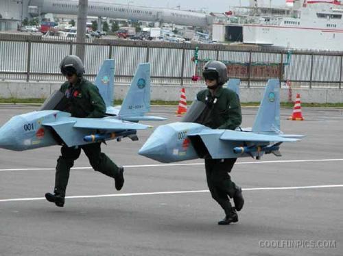 Man-Landing-Funny-Plane